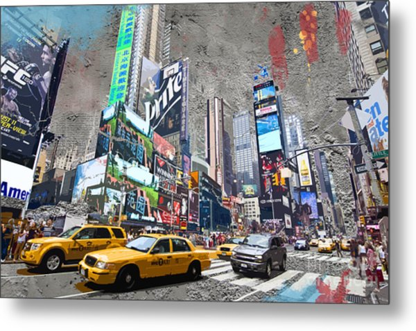 Times Square Street Creation Metal Print