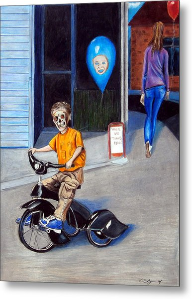 Timmy's New Tricycle Metal Print by Chris Benice