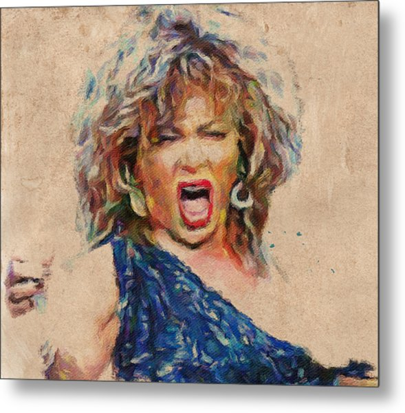 Tina Turner Portrait You Are The Best 1 Metal Print