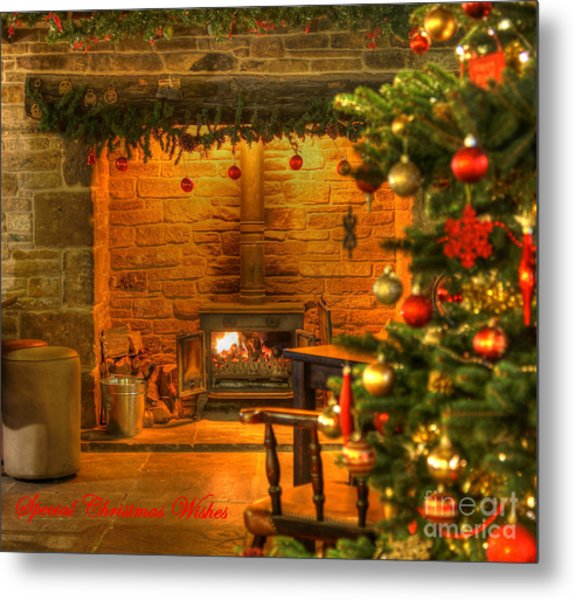 Tinsel And Fire Metal Print