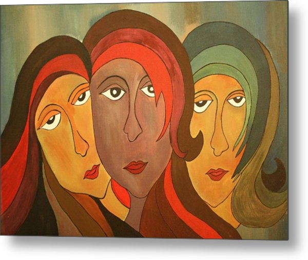 Tinted Girls Metal Print by Remya Damodaran