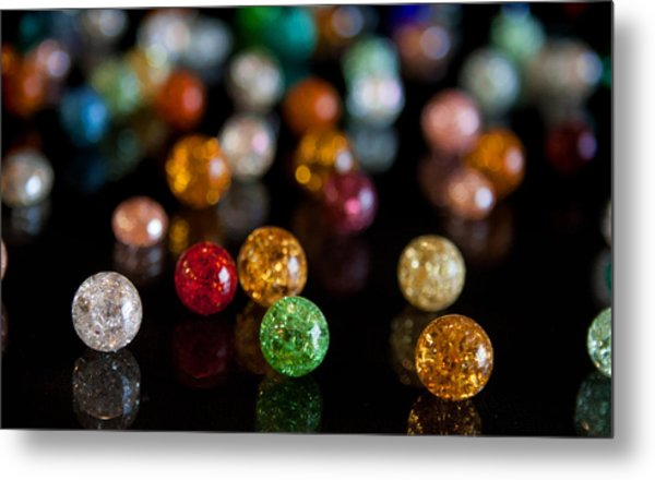 Tiny Crystal Balls Metal Print