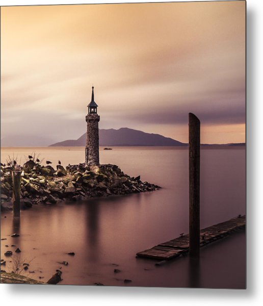 Tiny Lighthouse Metal Print