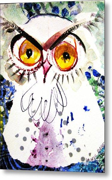Tipsy Owl Metal Print