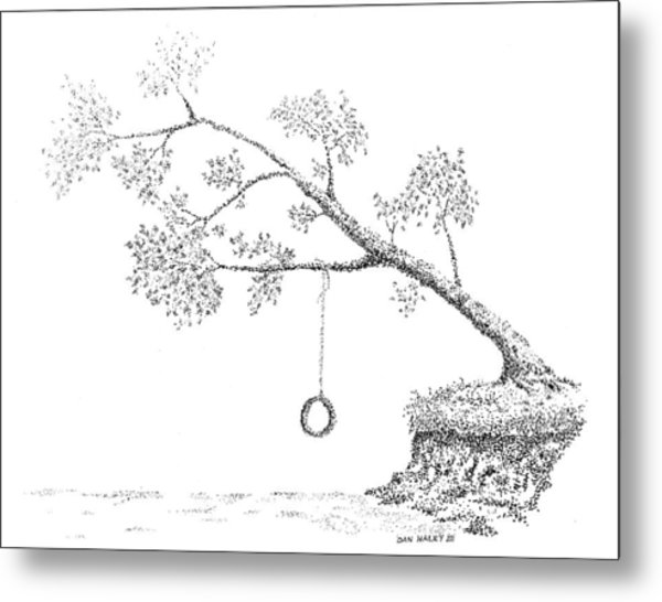 Tire Swing Metal Print by Dan Haley