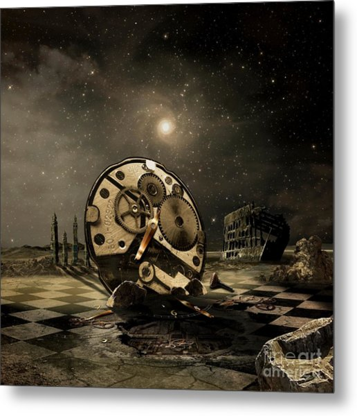 Tired Old Time Metal Print