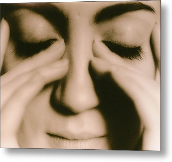 Tired Woman Metal Print by Cristina Pedrazzini/science Photo Library