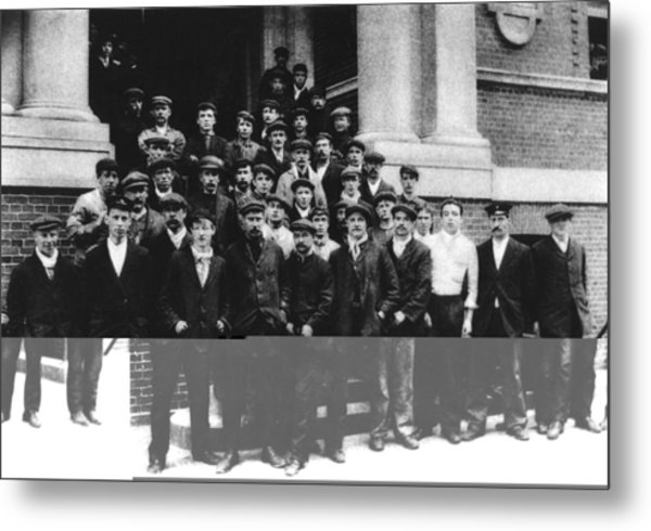 Titanic Crew Survivors Metal Print by Science Photo Library