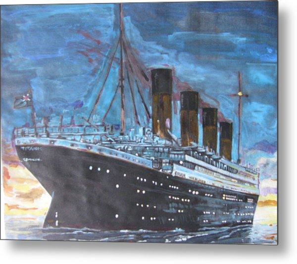 Titanic Into The Sunset Metal Print