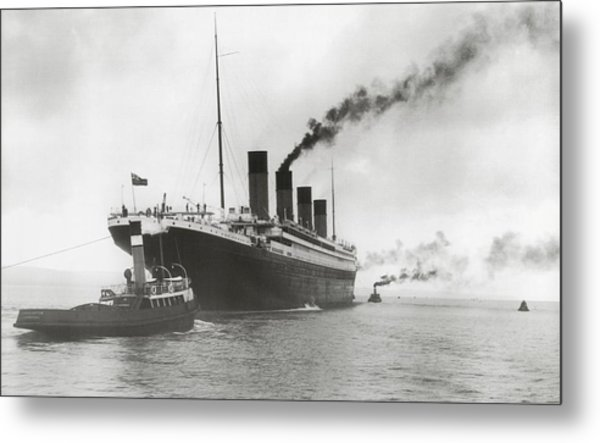 Titanic Ready For Her Maiden Voyage Metal Print