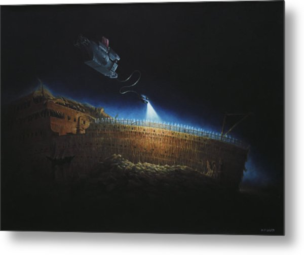 Titanic Wreck Save Our Souls Metal Print