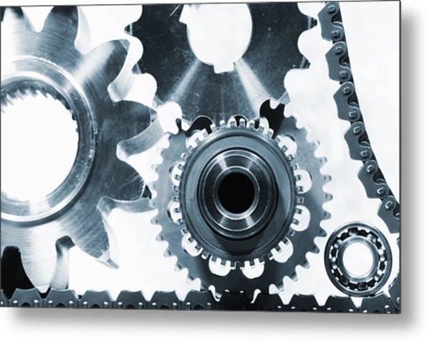 Titanium Aerospace Parts In Blue Metal Print