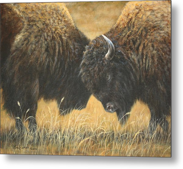 Titans Of The Plains Metal Print