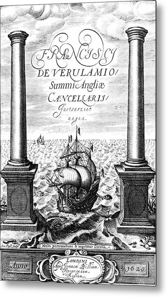 Title Page Of Instauratio Magna Metal Print