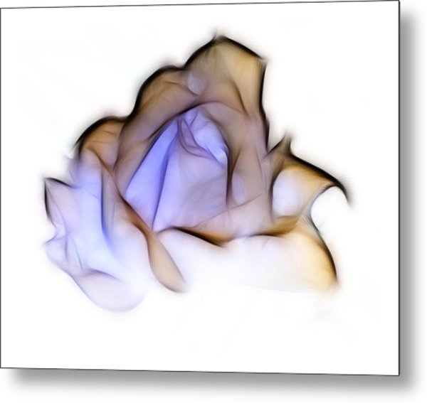 To A Rose Metal Print