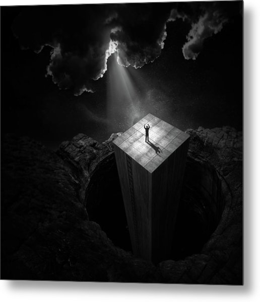 To Escape The Void Metal Print