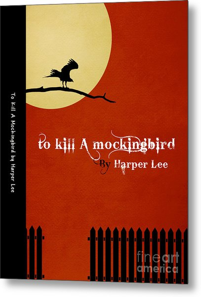 To Kill A Mockingbird Book Cover Movie Poster Art 1 Metal Print