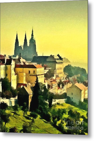 To Prague With Love... Metal Print