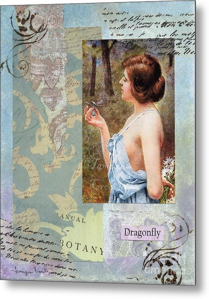 To Study The Dragonfly Metal Print