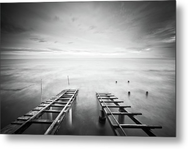 To The Infinity Metal Print by Claudio Coppari