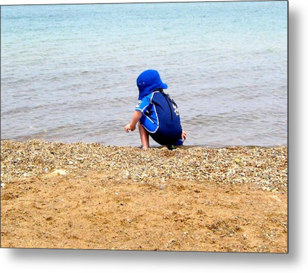 To Unpathed Waters Metal Print
