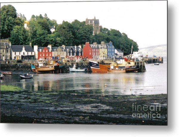 Tobermory Harbour Metal Print by Mark Bowden