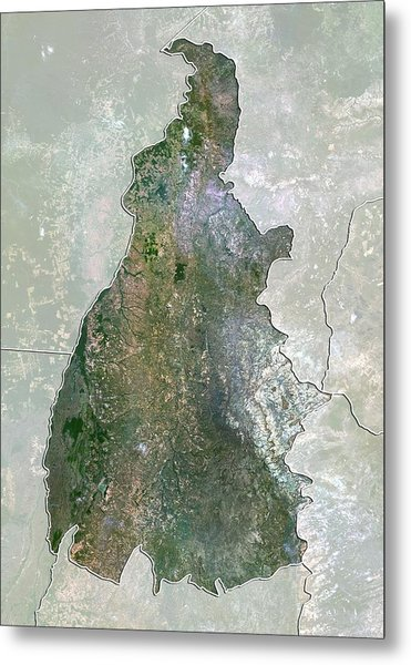 Tocantins, Brazil, Satellite Image Metal Print by Science Photo Library