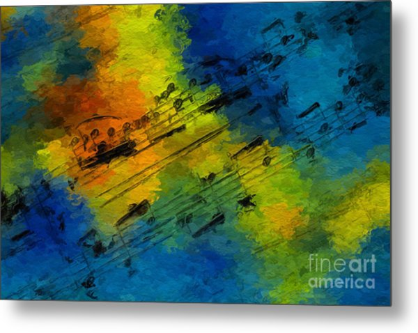 Toccata In Blue Metal Print