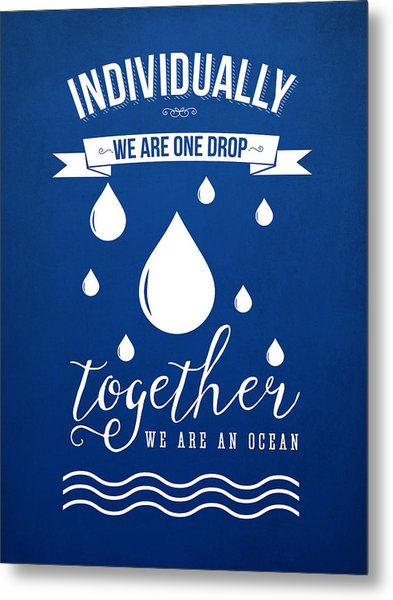 Together We Are An Ocean Metal Print