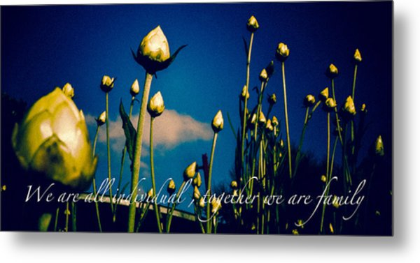 Together We Are Family Metal Print