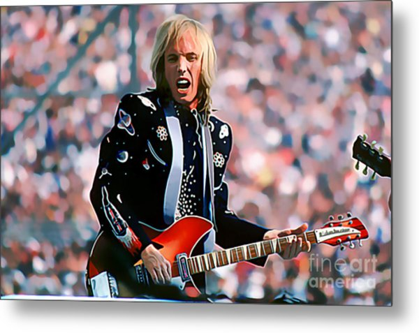 Tom Petty At Live Aid In Philadelphia Metal Print