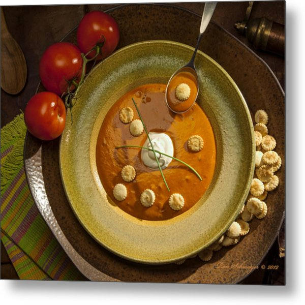 Tomato Bisque Soup Metal Print by Ron Schwager