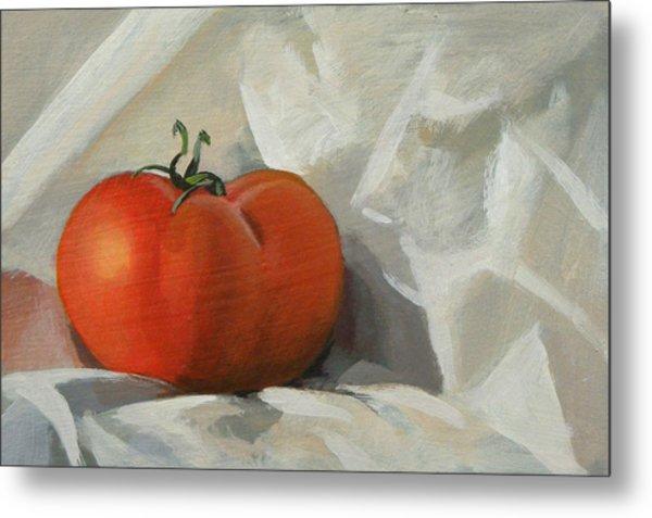 Tomato Metal Print by Peter Orrock
