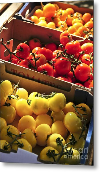 Tomatoes On The Market Metal Print