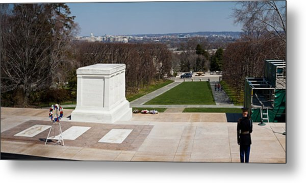 Tomb Of A Soldier In A Cemetery Metal Print