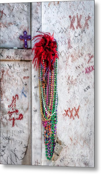 Tomb Of Marie Laveau New Orleans Metal Print