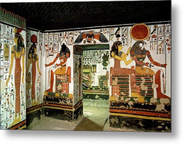 Tomb Of Queen Nefertari Metal Print