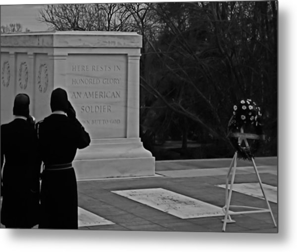 Tomb Of The Unknown Metal Print by DustyFootPhotography