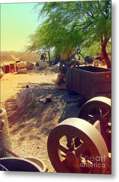 Tombstone Miner's Yard Metal Print