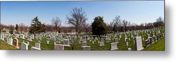 Tombstones In A Cemetery, Arlington Metal Print
