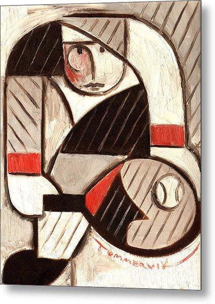 Tommervik Abstract Tennis Art Player Metal Print