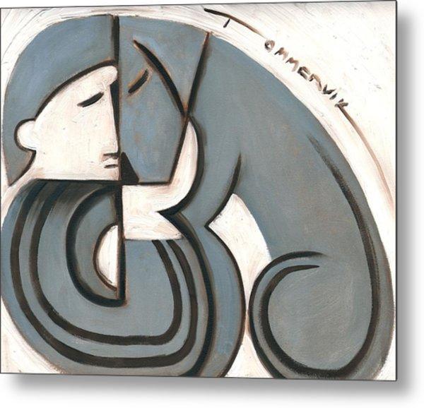 Tommervik Art Deco Man And Dog Art Print Metal Print