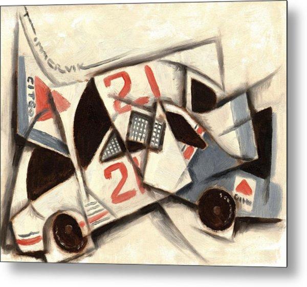 Tommervik Cubism Race Car  Metal Print