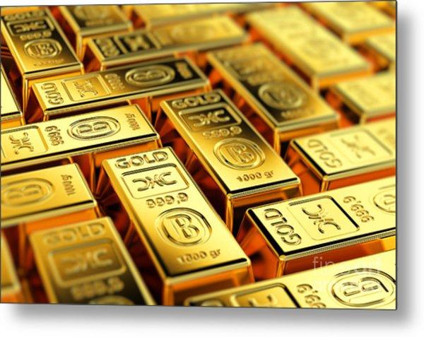 Tons Of Gold Metal Print