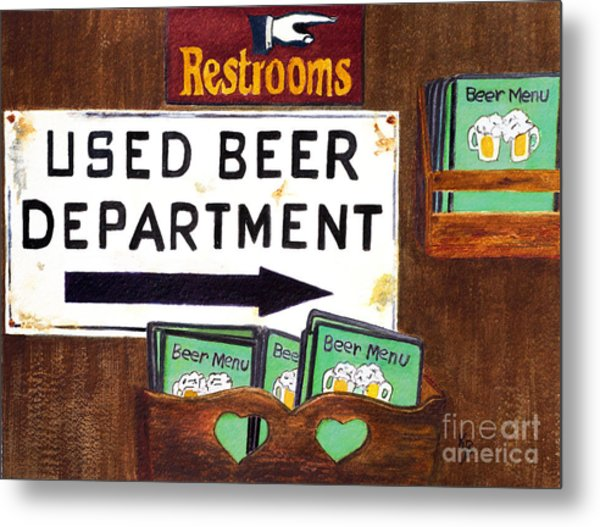 Metal Print featuring the painting Too Many Suds by Karen Fleschler
