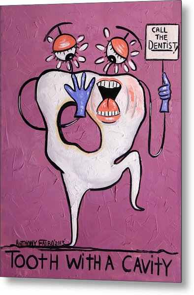 Tooth With A Cavity Dental Art By Anthony Falbo Metal Print