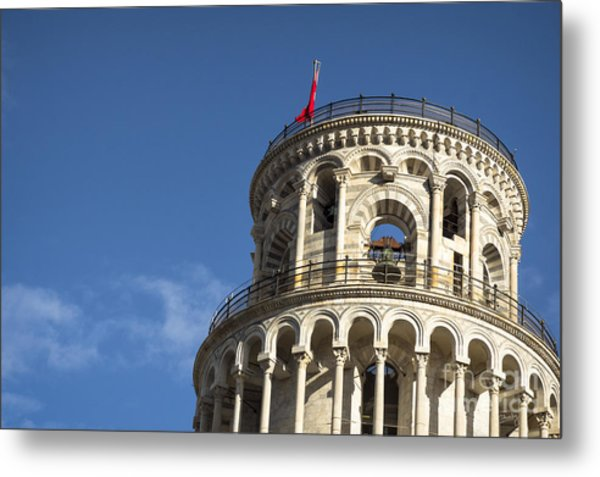 Top Of The Leaning Tower Of Pisa Metal Print