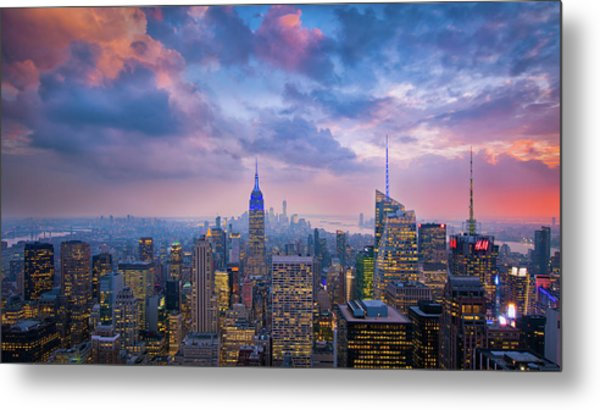 Top Of The Rock Metal Print by Michael Zheng