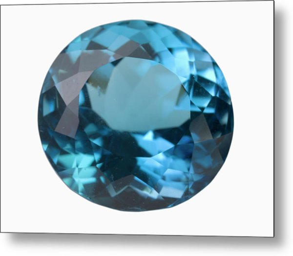 Topaz Gem Metal Print by Science Stock Photography/science Photo Library