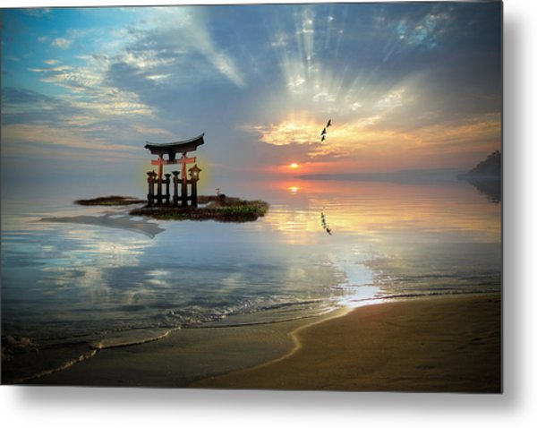 Tori Sunset Metal Print